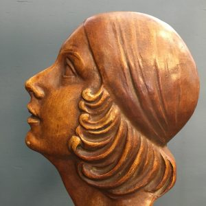 French Art Deco Terracotta Bust