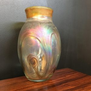 Signed French Art Glass Vase