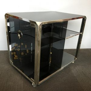 1970s Willy Rizzo Bar Cart