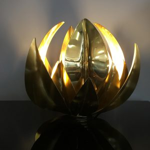 Italian 1970s Table Lamp in Brass