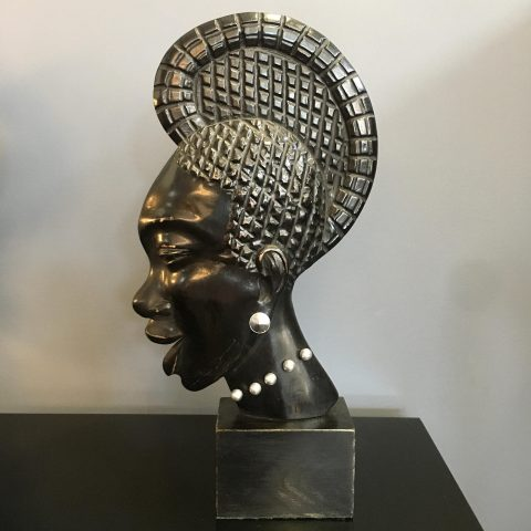 Carved Ebony Bust
