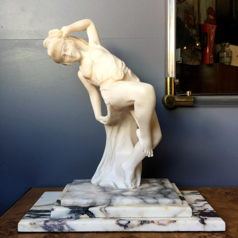 French Art Deco Marble Statue
