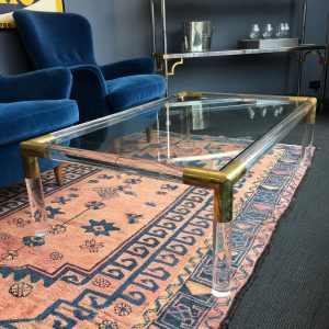 French 1970s Tubular Perspex Coffee Table