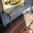 French 1970s Tubular Perspex Console with Brass Accents
