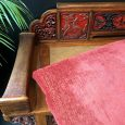 Antique Chinese Carved Elm Day Bed