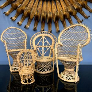 Collection of Miniature Peacock Chairs $120-$165
