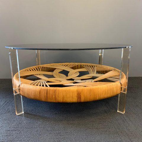 1970s Italian Circular Coffee Table