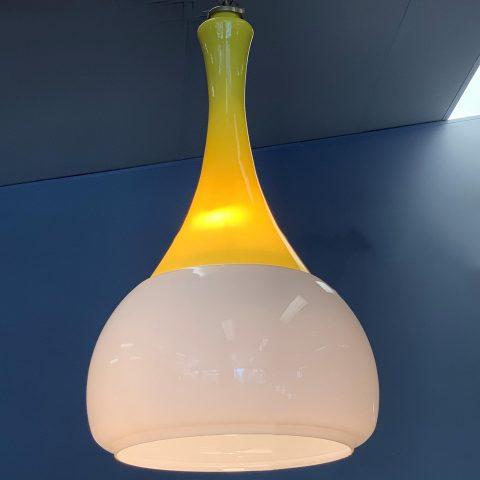 Vintage Italian Glass Hanging Light