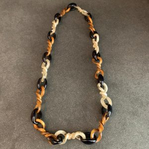 French Bakelite Link Necklace
