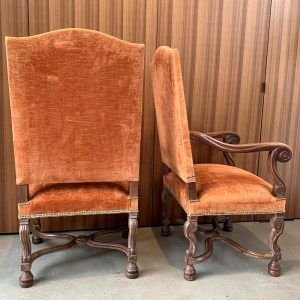 Pair of French Oak Fauteuils