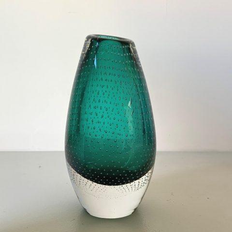 Mid Century Finnish Glass Vase by Gunnel Nyman