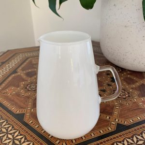 Scandinavian Milk Glass Jug from the 1960s