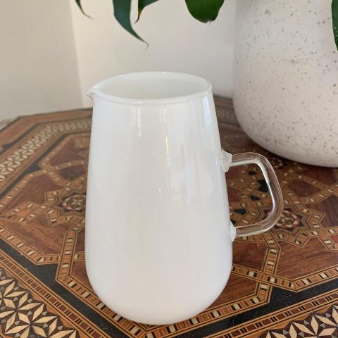 Scandinavian Milk Glass Jug from the 1960s