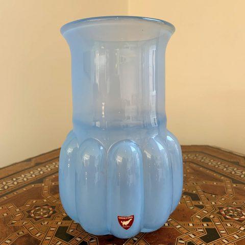 Lovely Blue Orrefors Glass Vase
