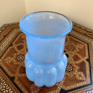 Lovely Blue Orrefors Glass Vase