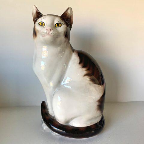 European 1960s Porcelain Lifesize Cat