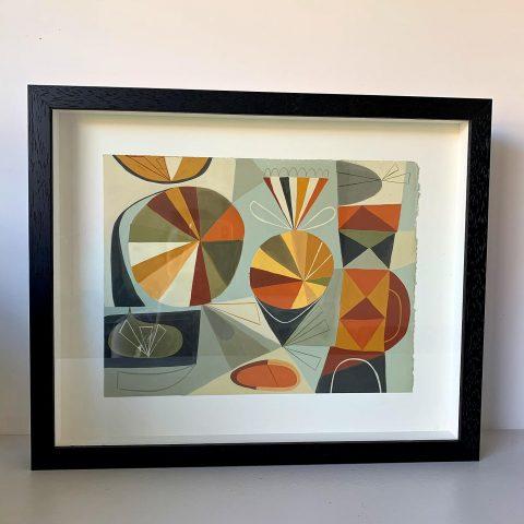 Framed Original Guoache by Matte Stephens
