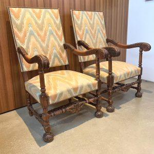 Pair of French Walnut Fauteuils