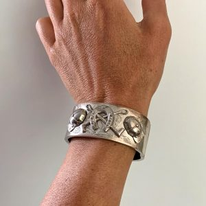 English Sterling Silver Cuff Bangle