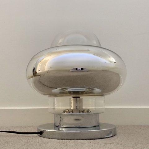 Italian 1960s Chrome Table Lamp