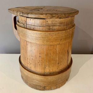 Antique Scandinavian Measure Jug with Lid