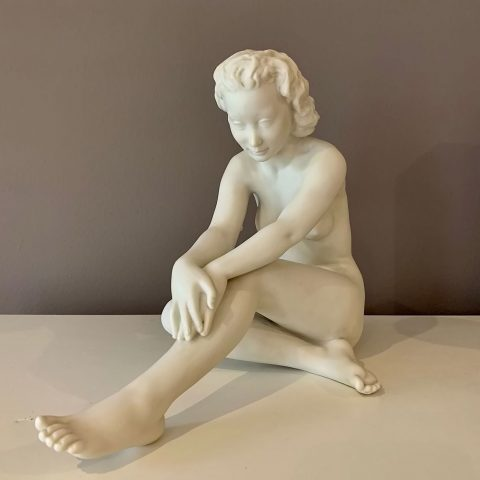 Bisque Porcelain Nude Female Figure by Werner
