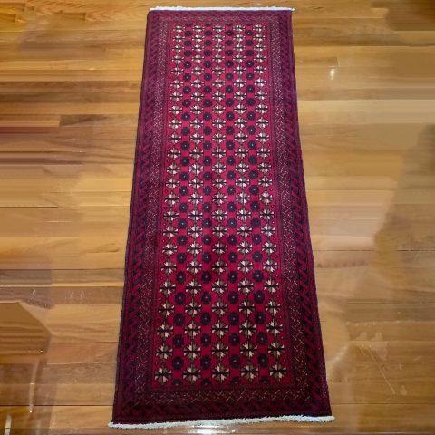 Finely Made Contemporary Turkoman Woollen Runner Carpet
