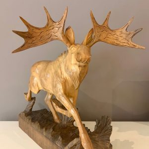 1960s Carved Decorative Moose