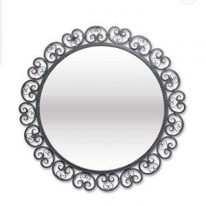 French Wrought Iron Circular Mirror