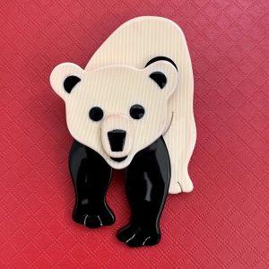 French Lea Stein Bear Brooch